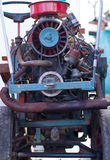 Motore Section of Vintage Tractor Stock Photo