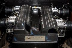 Motore V12 del supercar Lamborghini Murcielago, 2004 immagine stock libera da diritti