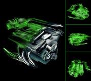 Motore V6 Fotografie Stock