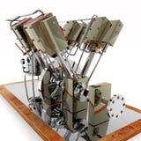 Motore a vapore ad otto cilindri Immagini Stock
