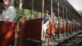 Motore a vapore d'annata - treno 4k stock footage