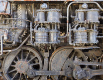 motore a vapore di Vapore-punk Immagini Stock