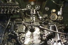 Motore a vapore locomotivo antico Fotografia Stock Libera da Diritti