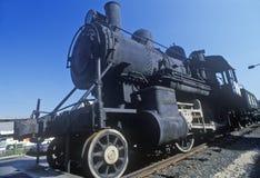 Motore a vapore in Rogers Locomotive Works, Paterson, NJ Fotografia Stock
