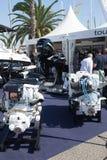 Motoren bij Salon Nautico in Barcelona Stock Afbeeldingen
