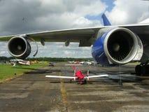 Motoren van vliegtuig Stock Foto's