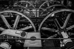 Motorer för kraftstation för museum för kabelbil arkivbild