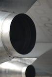 Motores de jato sob a asa Fotos de Stock Royalty Free