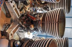Motores de Saturno V Rocket Fotos de Stock Royalty Free