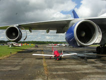 Motores del avión Fotos de archivo