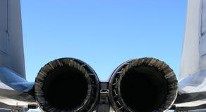 Motores del avión de combate Imagenes de archivo