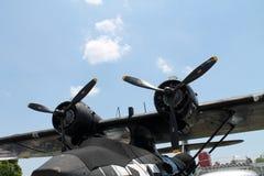 Motores del bombardero WW2 Imágenes de archivo libres de regalías