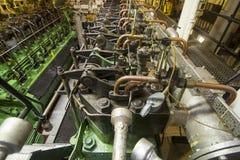 Motores diesel marinos Imágenes de archivo libres de regalías
