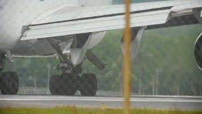 Motores e engrenagens do avião widebody filme