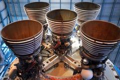 Motores espaciales de Saturno V Fotos de archivo libres de regalías