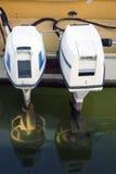 Motores externos do motorboat Foto de Stock Royalty Free
