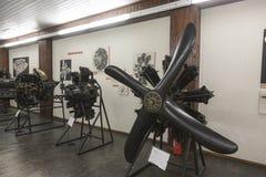 Motores viejos del aeroplano en Nikola Tesla Technical Museum en Zagreb, Croacia foto de archivo libre de regalías