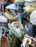 Motores viejos del barco Imagen de archivo