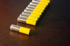 motorförbundetbatterier Royaltyfri Foto