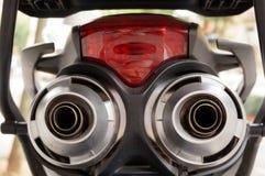 Motorfiets achterdetails Royalty-vrije Stock Afbeelding