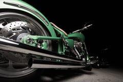 Motorfiets bij nacht Stock Fotografie