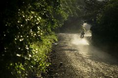 Motorfiets in Costa Rica royalty-vrije stock foto's