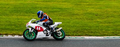 Motorfiets die Mallory Park rennen Royalty-vrije Stock Foto