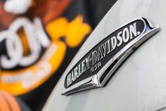 Motorfiets harely-Davidson Stock Afbeeldingen