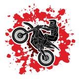 Motorfiets het dwars grafisch springen Stock Afbeeldingen