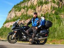 Motorfiets het reizen royalty-vrije stock afbeelding
