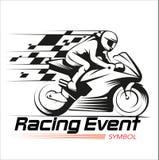 Motorfiets het Rennen Gebeurtenissymbool Royalty-vrije Stock Afbeeldingen