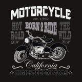 Motorfiets het Rennen Typografie, de Motoren van Californië Royalty-vrije Stock Fotografie