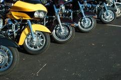 Motorfiets lineup Stock Afbeelding