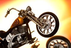 Motorfiets op abstracte achtergrond royalty-vrije stock afbeeldingen