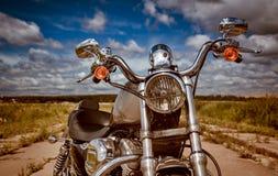 Motorfiets op de weg royalty-vrije stock foto's