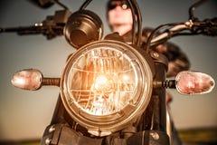 Motorfiets op de weg royalty-vrije stock fotografie