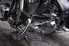Motorfiets op een rij Royalty-vrije Stock Foto