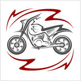 Motorfiets Vectorelementen Stock Afbeelding