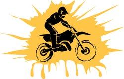 Motorfietsachtergrond Stock Afbeelding