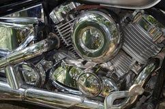 Motorfietsbenzine van brandstof voorzien motor Stock Fotografie