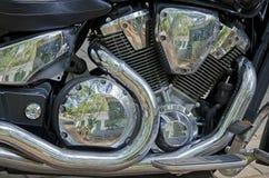 Motorfietsbenzine van brandstof voorzien motor Stock Afbeelding
