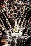 Motorfietsbenzine van brandstof voorzien motor Royalty-vrije Stock Fotografie