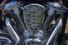 Motorfietsbenzine van brandstof voorzien motor Stock Afbeeldingen