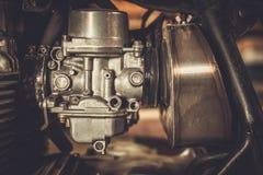 Motorfietscarburator Stock Foto's