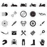 motorfietsdeel en puntreeks Royalty-vrije Stock Afbeelding