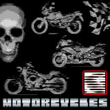 Motorfietsen in lijnen Royalty-vrije Stock Foto