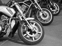 Motorfietsen op de straten Stock Foto's