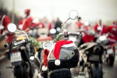 Motorfietsen van de Kerstman Royalty-vrije Stock Afbeelding