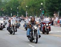 Motorfietsen in Washington DC voor de Donder van Rolling Stock Foto's