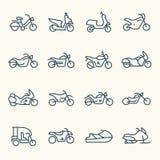 Motorfietsenpictogrammen royalty-vrije stock foto's